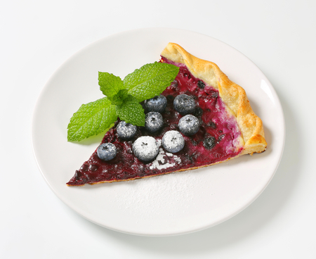 french cuisine: French cuisine - Quark and blueberry flammkuchen