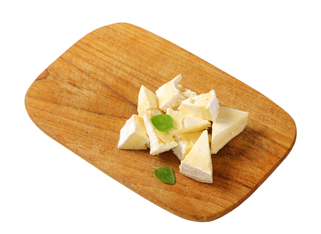 penicillium: Pieces of French white rind cheese
