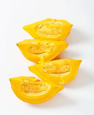 quarters: Quarters of ripe yellow pumpkin Stock Photo