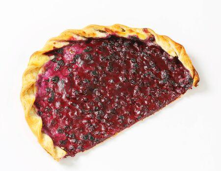 quark: Tarte flambee with quark and blueberries