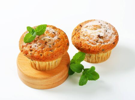stracciatella: Vanilla muffins with fine chocolate flakes