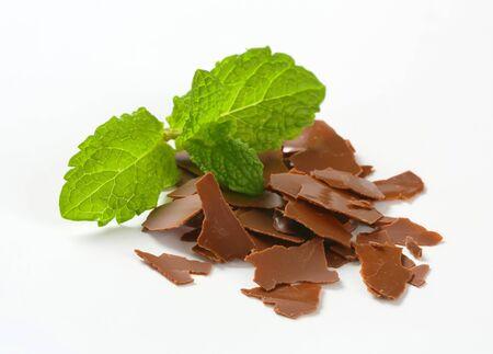 chocolate shavings: Chocolate shavings on white background