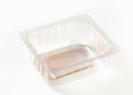 Small plastic rectangular food container