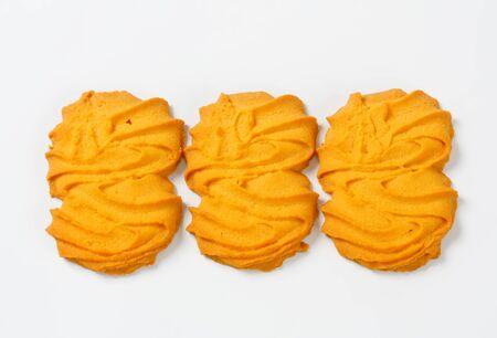 spritz: Studio shot of vanilla Spritz cookies Stock Photo