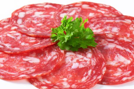 thinly: Spanish summer sausage made with Iberico pork - thinly sliced