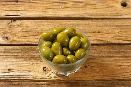 green olives: Bowl of fresh green olives