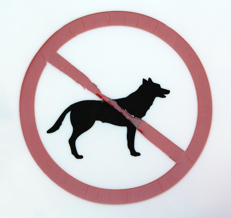 allowed: No dogs allowed sign Stock Photo