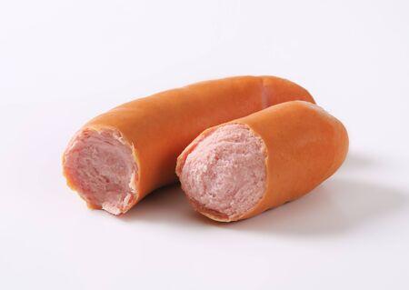 Studio shot of smoked sausage