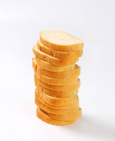 long shots: Sliced loaf of white bread Stock Photo