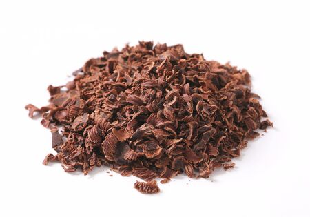 semisweet: Pile of grated plain chocolate