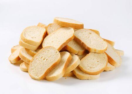 white bread: Sliced white bread - studio shot