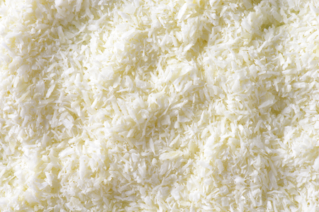 shredded coconut: Dried grated unsweetened coconut meat