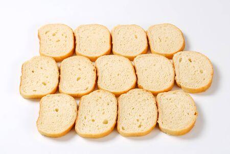 pain blanc: Sliced white bread - studio shot