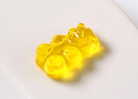 gummy bear: Yellow lemon gummy bear candy