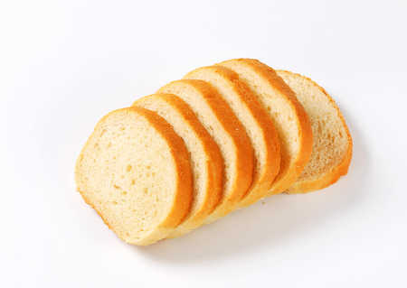 pain blanc: Le pain blanc en tranches - tourn� en studio