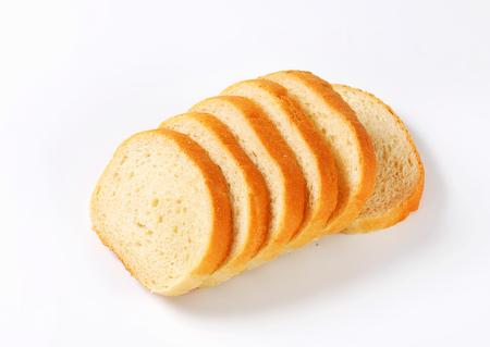 Pan blanco rebanado - tiro del estudio Foto de archivo