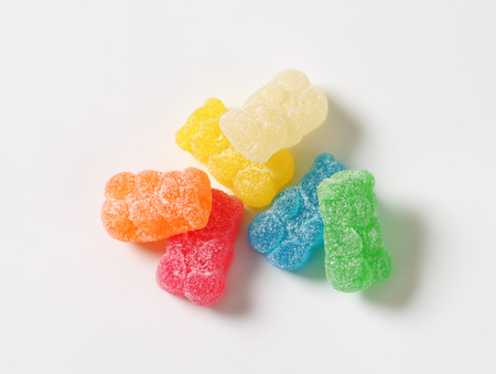 granulated: Gummy bears coated in granulated sugar