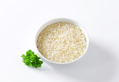 long shots: Bowl of uncooked white rice