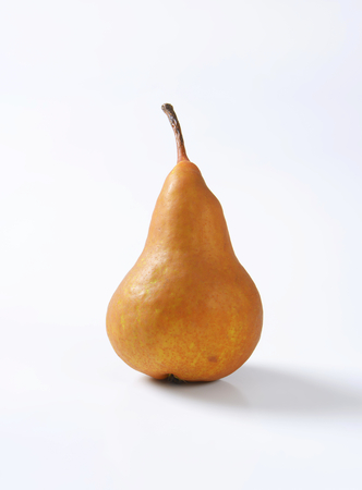 russet: European pear with elongated slender neck and russeted skin Stock Photo