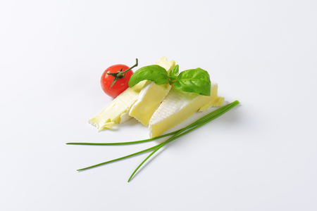 rind: Brique cheese - soft cows milk cheese with thin edible rind