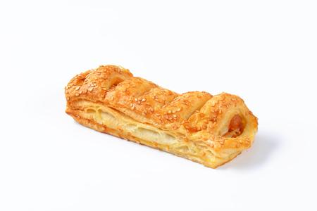 savoury: Sausage roll - savoury pastry snack Stock Photo