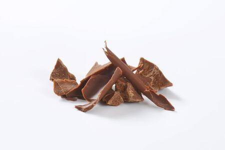 indulgence: pieces of milk chocolate - studio shot
