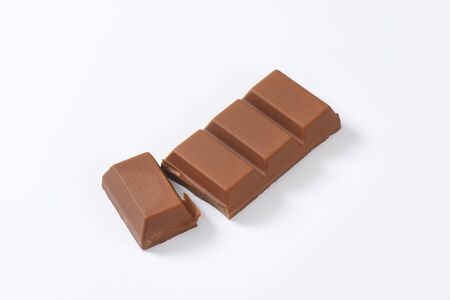 indulgence: chocolate bar on white background
