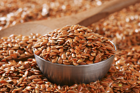 common flax: Flaxseeds (also called linseeds) - rich source of healthy fat, antioxidants, and fiber
