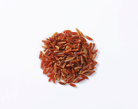 camargue: Heap of Camargue red rice (Grown organically in the wetlands of Southern France) Stock Photo