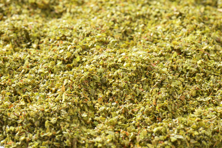 marjoram: Background of dried Marjoram leaves Stock Photo
