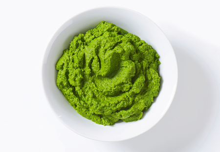 puree: Bowl of homemade spinach puree