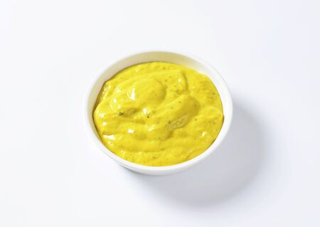 sauce dish: Curry sauce in a small bowl