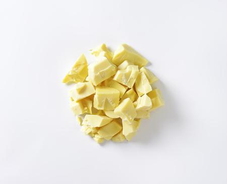 white chocolate: Pieces of white chocolate - studio shot