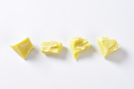 Pieces of white chocolate - studio shot