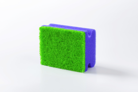 kitchen sponge with scouring pad