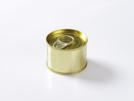 unlabelled: tin can on white background