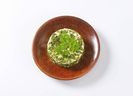 cebolleta: queso fresco cubierto de cebolletas y ajo
