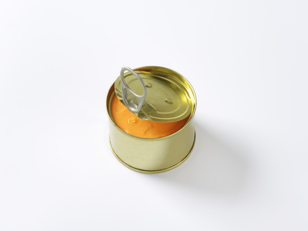 canned: canned pate on white background