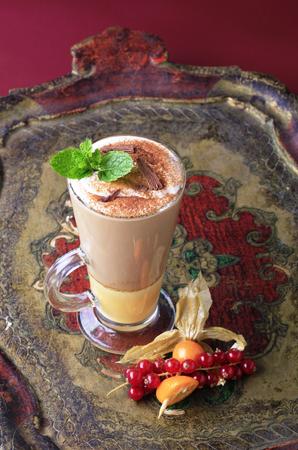 eggnog: Coffee drink with a shot of eggnog