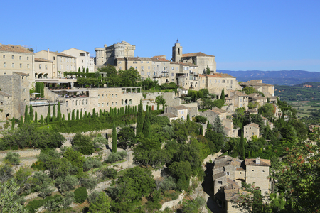 gordes: general view of ancient French village of Gordes Stock Photo