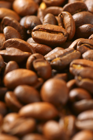 fairtrade: Detail of roasted coffee beans