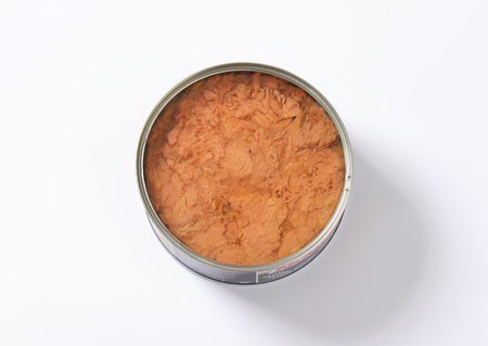 canned: canned tuna on white background