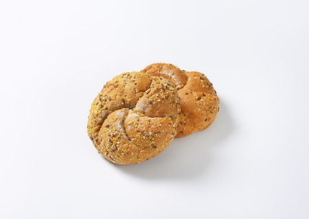 flax seeds: fresh bread buns with flax seeds
