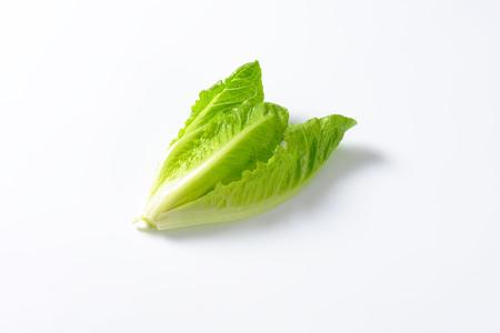romaine: heart of romaine lettuce on white background Stock Photo