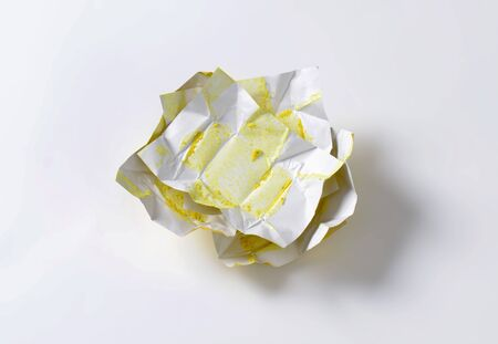 wrappers: empty wrappers from bouillon cubes