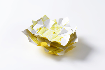 wrappers: stack of bouillon cube wrappers