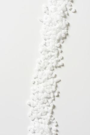 sel: crystals of coarse grained sea salt
