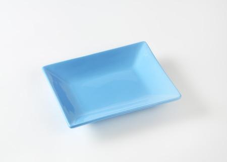 rectangular: blue rectangular plate on white background
