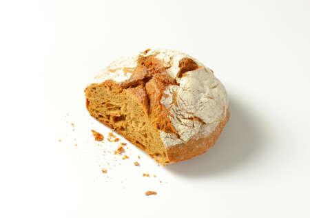 crusty: Crusty bread on white background