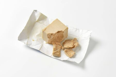 leavening: Block of compressed fresh yeast